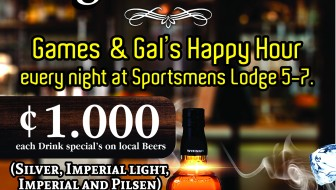 Happy Hour at the Sportsmens Lodge