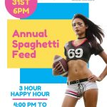 Annual Spaghetti Feed and 3-Hour Happy Hour at the Sportsmens Lodge
